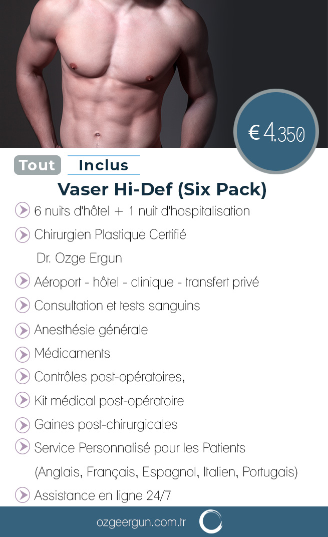 Vaser Hi-Def (Six Pack) Tout Inclus